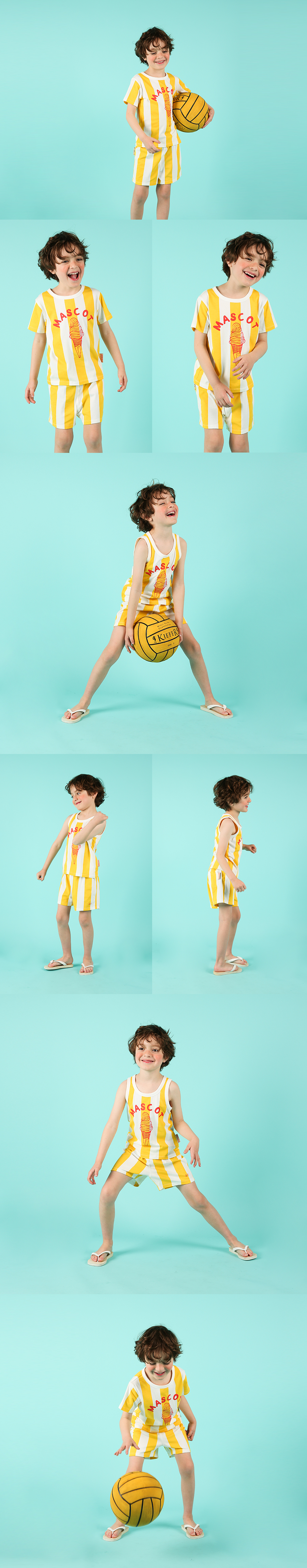 Mascot ice cream bold stripe lounge wear set 상세 이미지