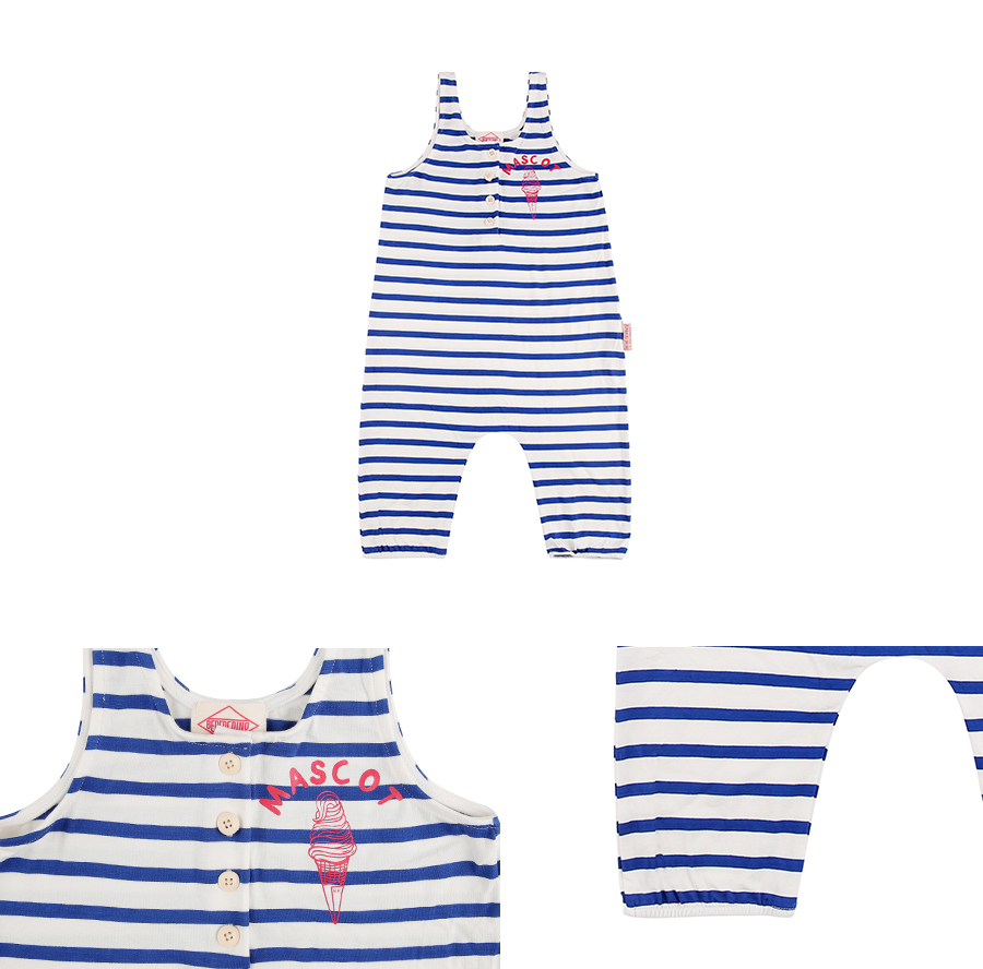 Mascot ice cream stripe overall 상세 이미지