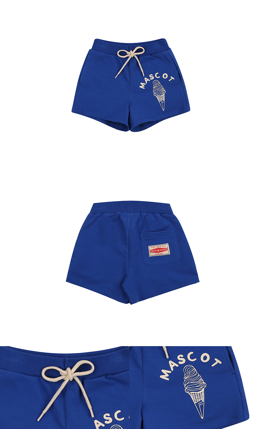 Mascot ice cream sweat shorts 상세 이미지