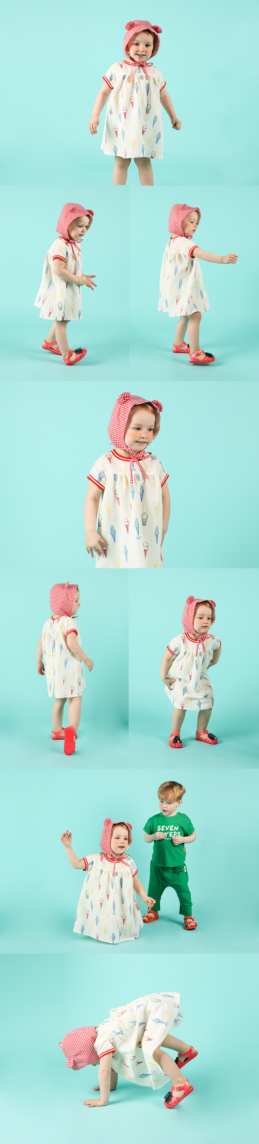Multi color ice cream cone baby dress 상세 이미지