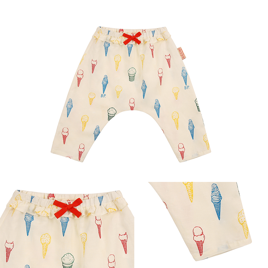 Multi color ice cream cone baby ruffle pants 상세 이미지