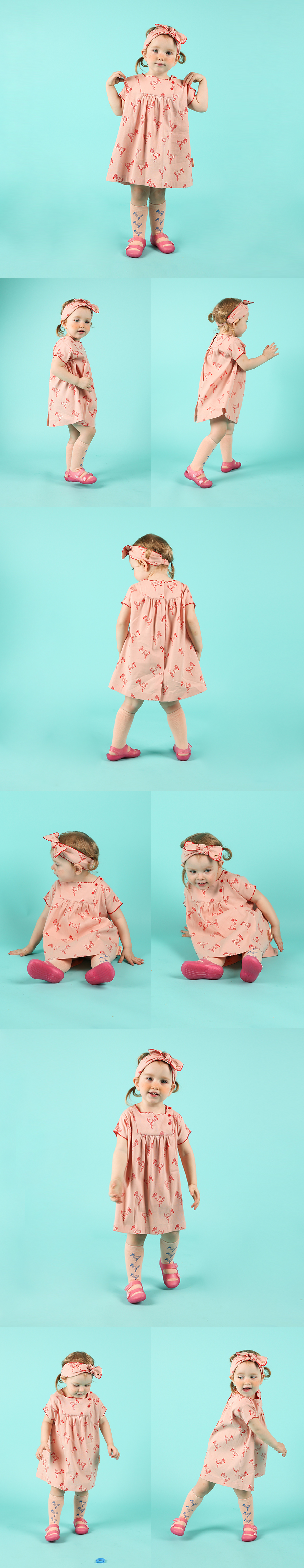 Multi flamingo baby dress 상세 이미지
