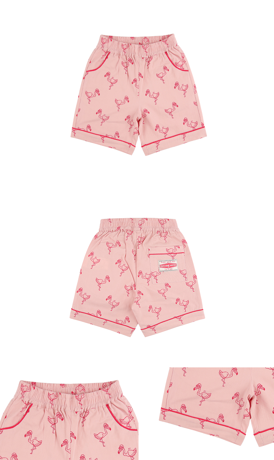 Multi flamingo bermuda pants 상세 이미지