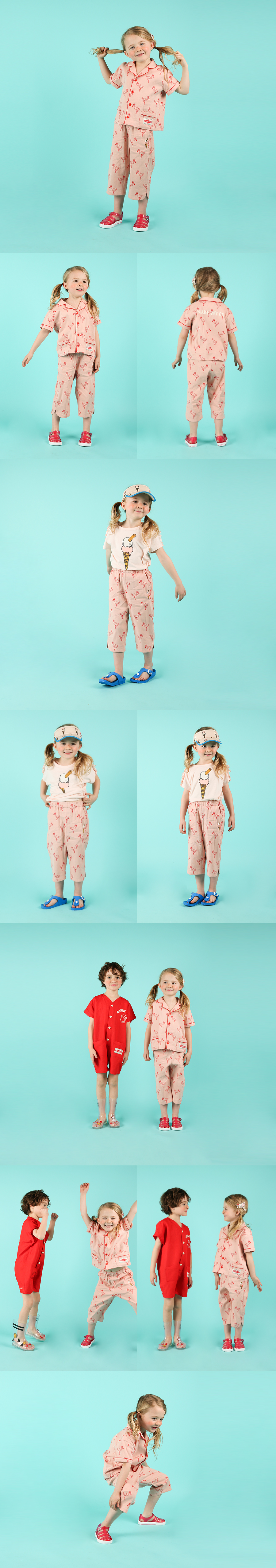 Multi flamingo linen ankle pants 상세 이미지