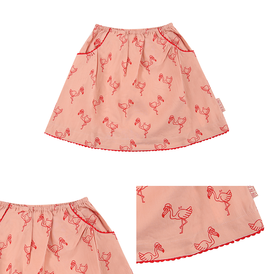 Multi flamingo linen skirt 상세 이미지