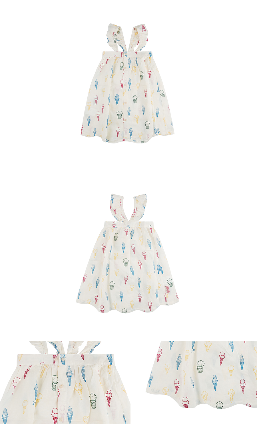 Multi ice cream cone wing sleeve dress 상세 이미지