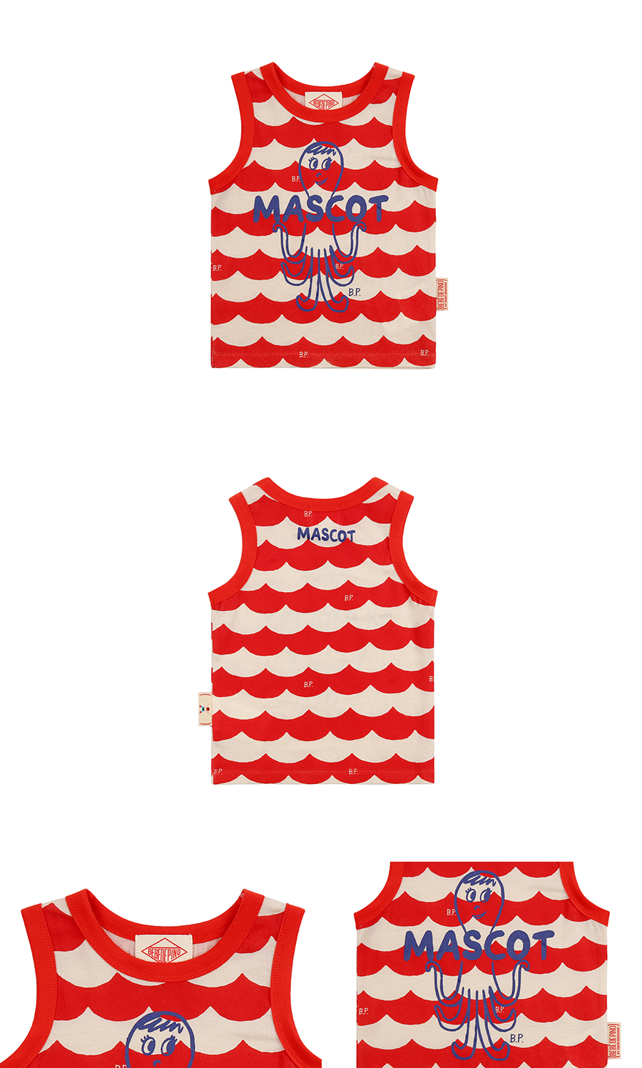 Multi scarlet wave baby tank top 상세 이미지