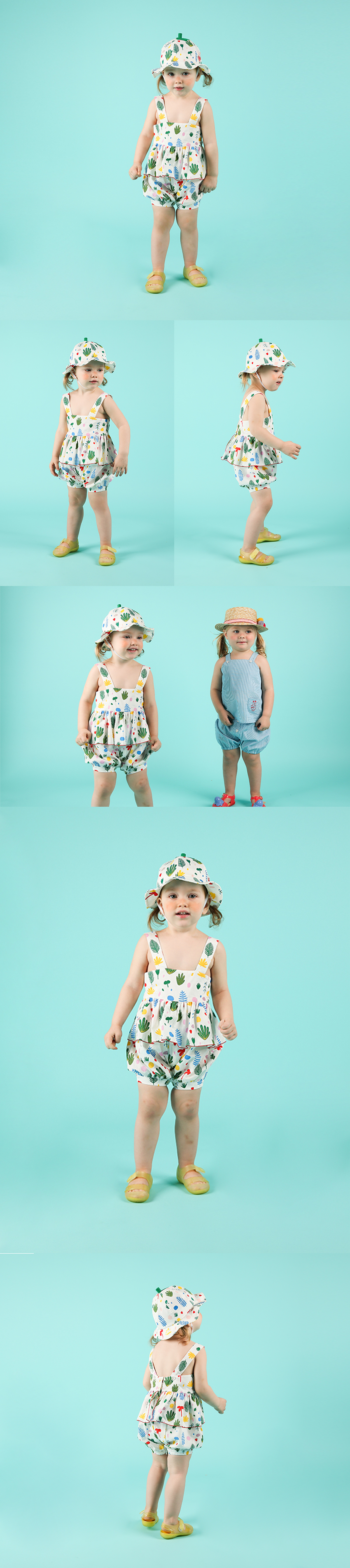 Multi tropical baby girl suit 상세 이미지