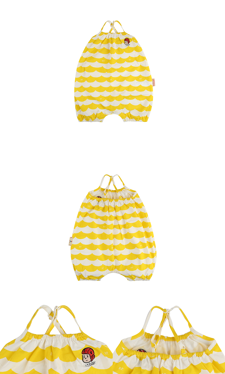 Multi yellow wave baby suit 상세 이미지