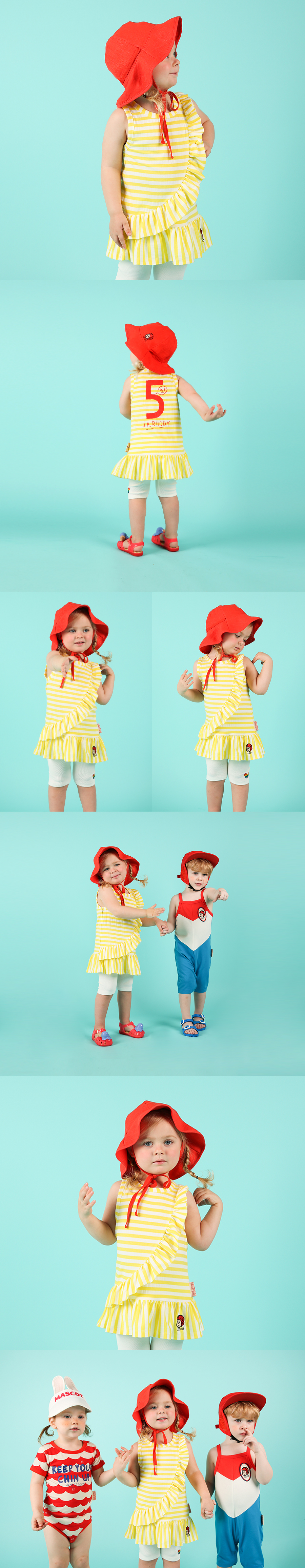 Number 5 baby unbalance ruffle dress 상세 이미지
