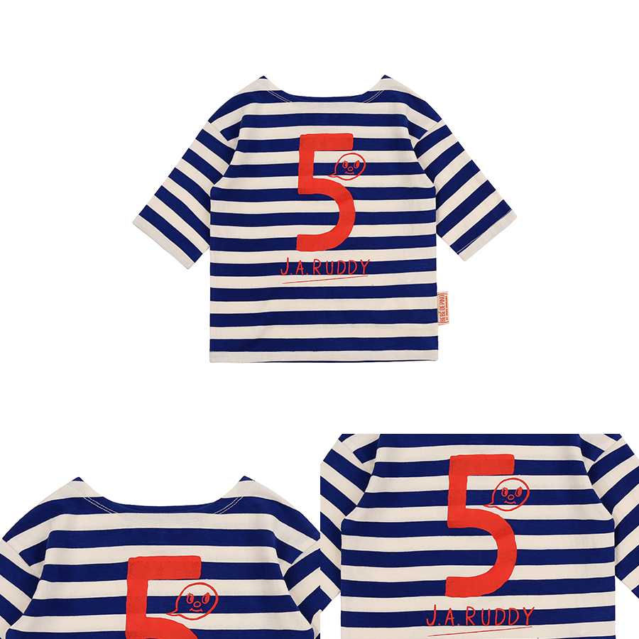 Number 5 ruddy baby stripe three-quarter tee 상세 이미지