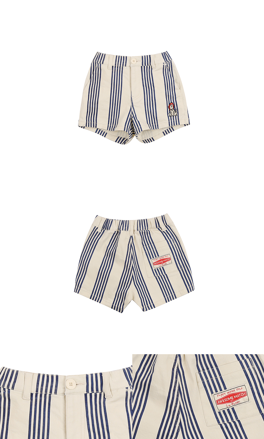 Puppy stripe short pants 상세 이미지