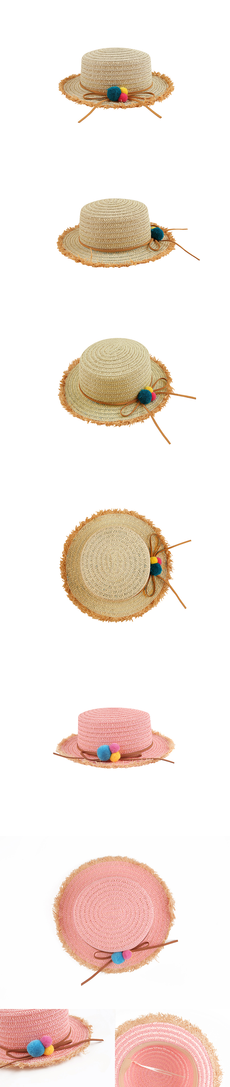 Row edge straw hat 상세 이미지