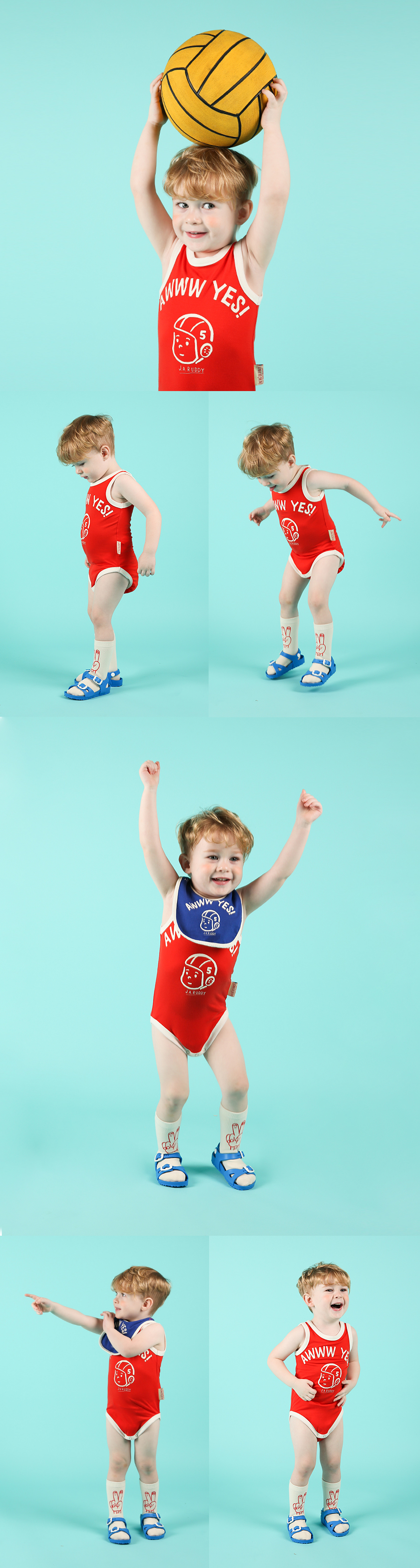 Ruddy baby sleeveless bodysuit 상세 이미지