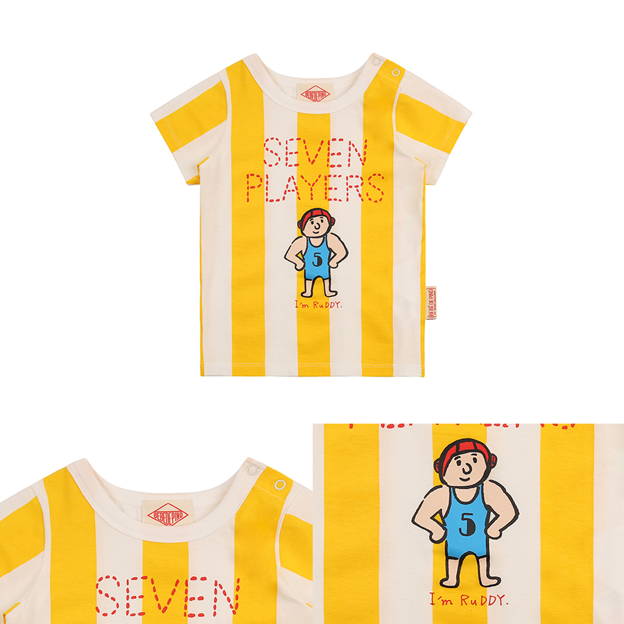 Seven players baby bold stripe short sleeve tee 상세 이미지