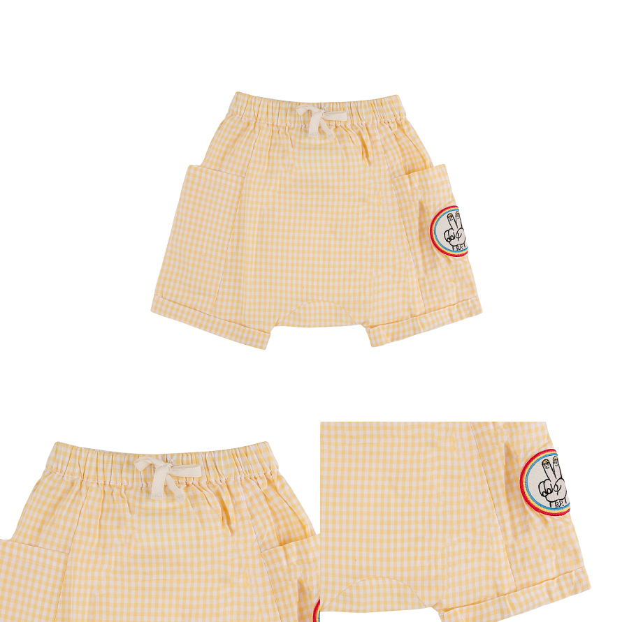 Victory baby gingham check short pants 상세 이미지