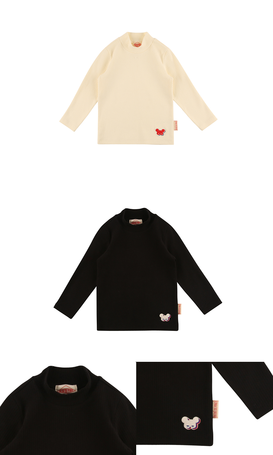 Basic shadow pino turtle neck tee 상세 이미지