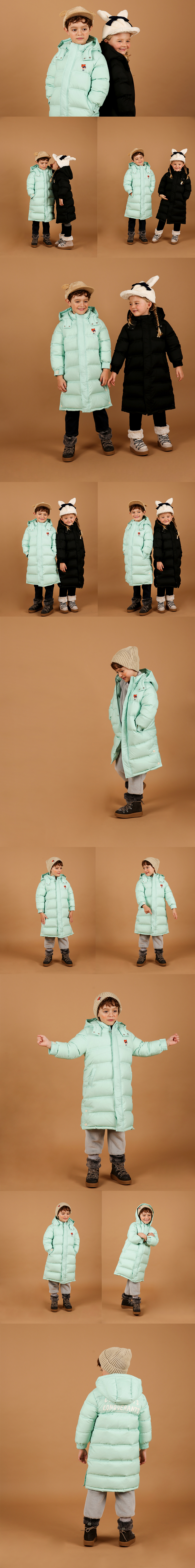 Lesser panda long down bench coat 상세 이미지
