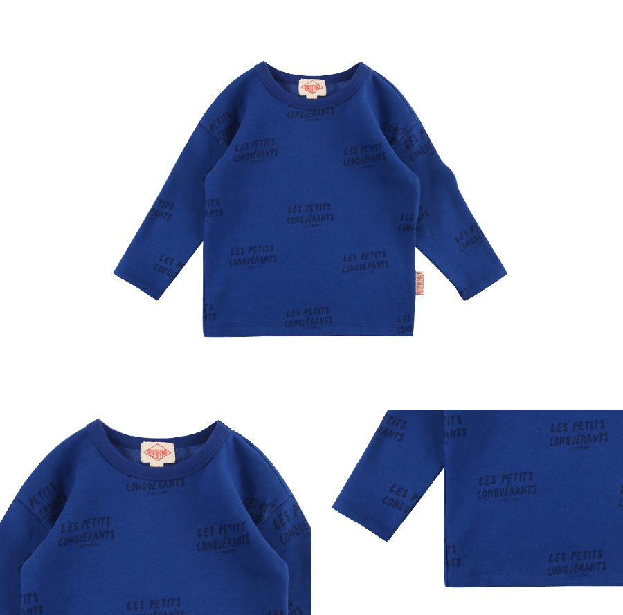 Multi lettering drop shoulder long sleeve tee 상세 이미지