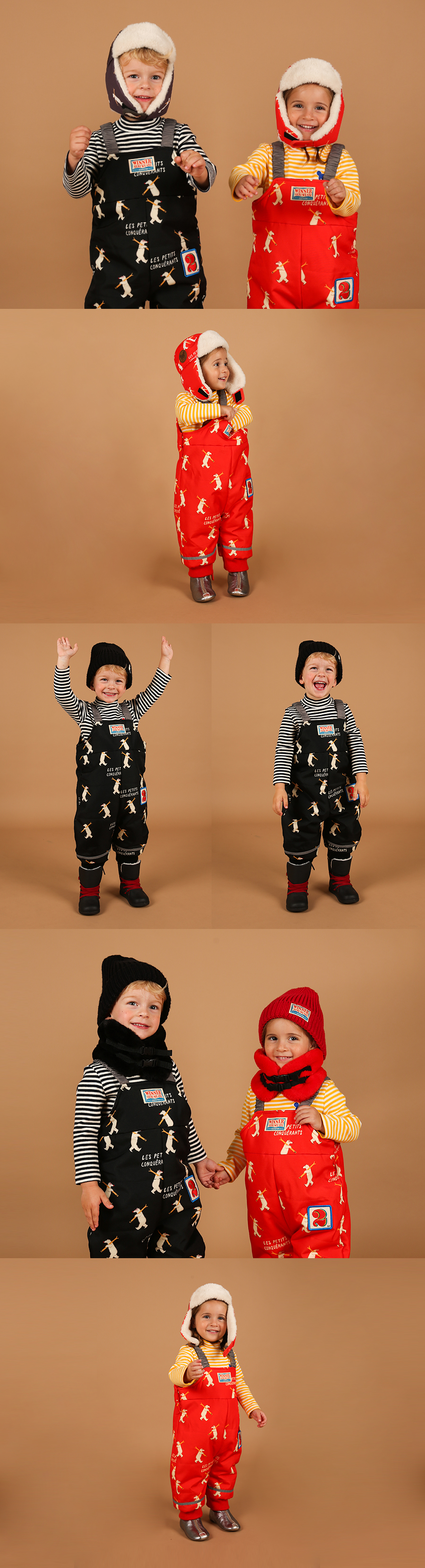 Multi polar bear baby padded ski suit 상세 이미지