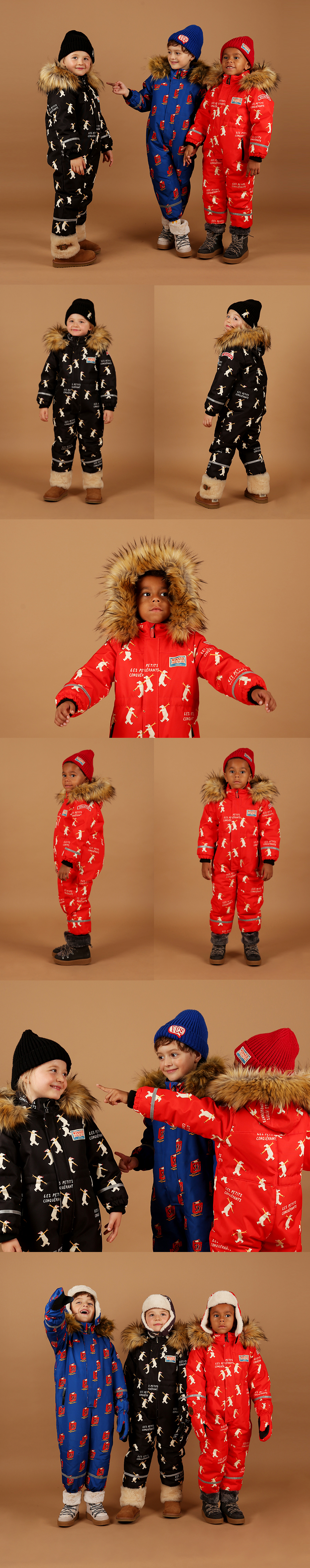 Multi polar bear ski suit 상세 이미지