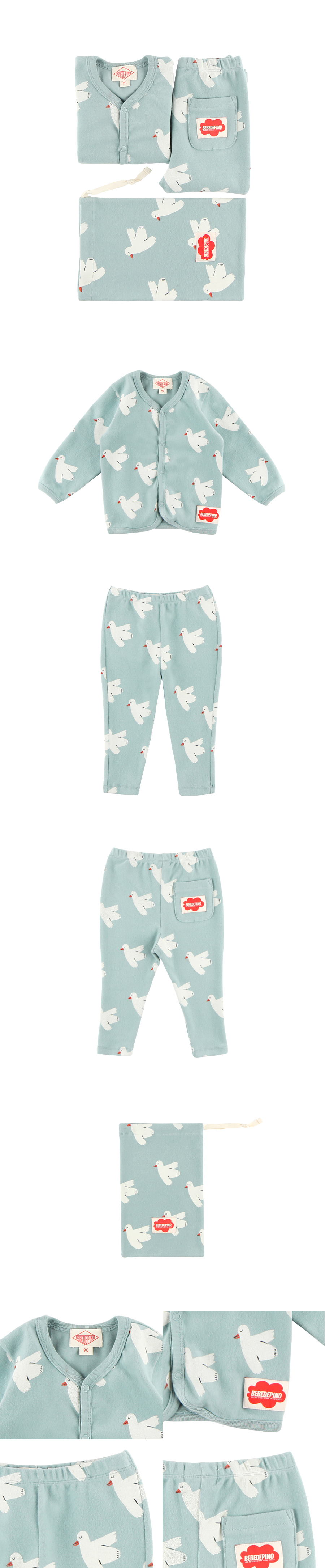 Multi dove baby homewear set 상세 이미지