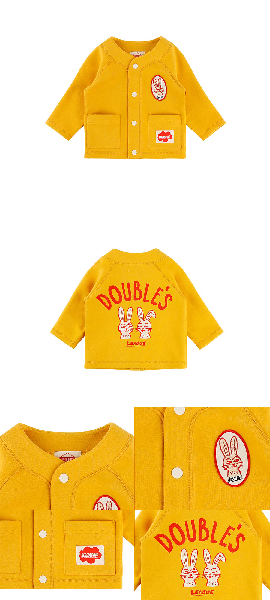 Doubles rabbit baby cardigan 상세 이미지