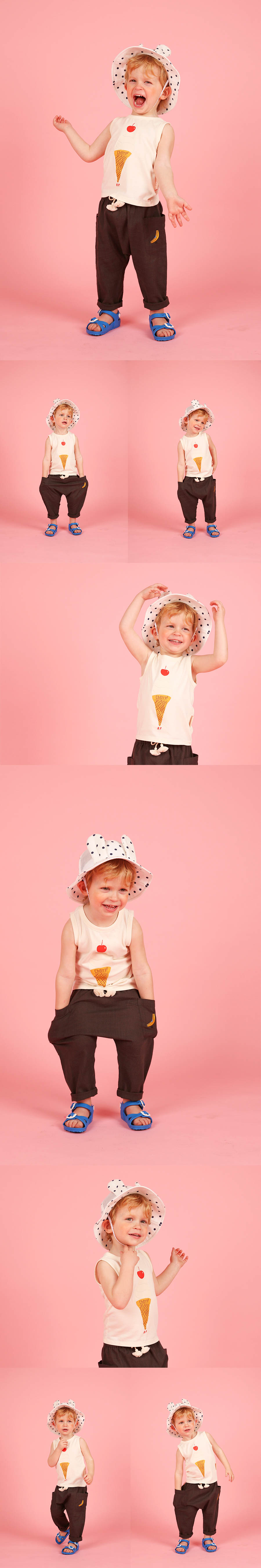 Cherry ice cream cone baby tank top 상세 이미지