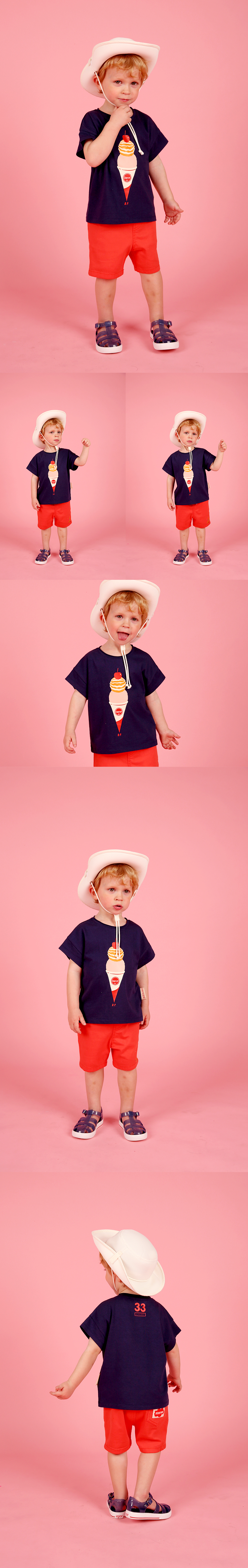 Double ice cream cone baby short sleeve tee 상세 이미지