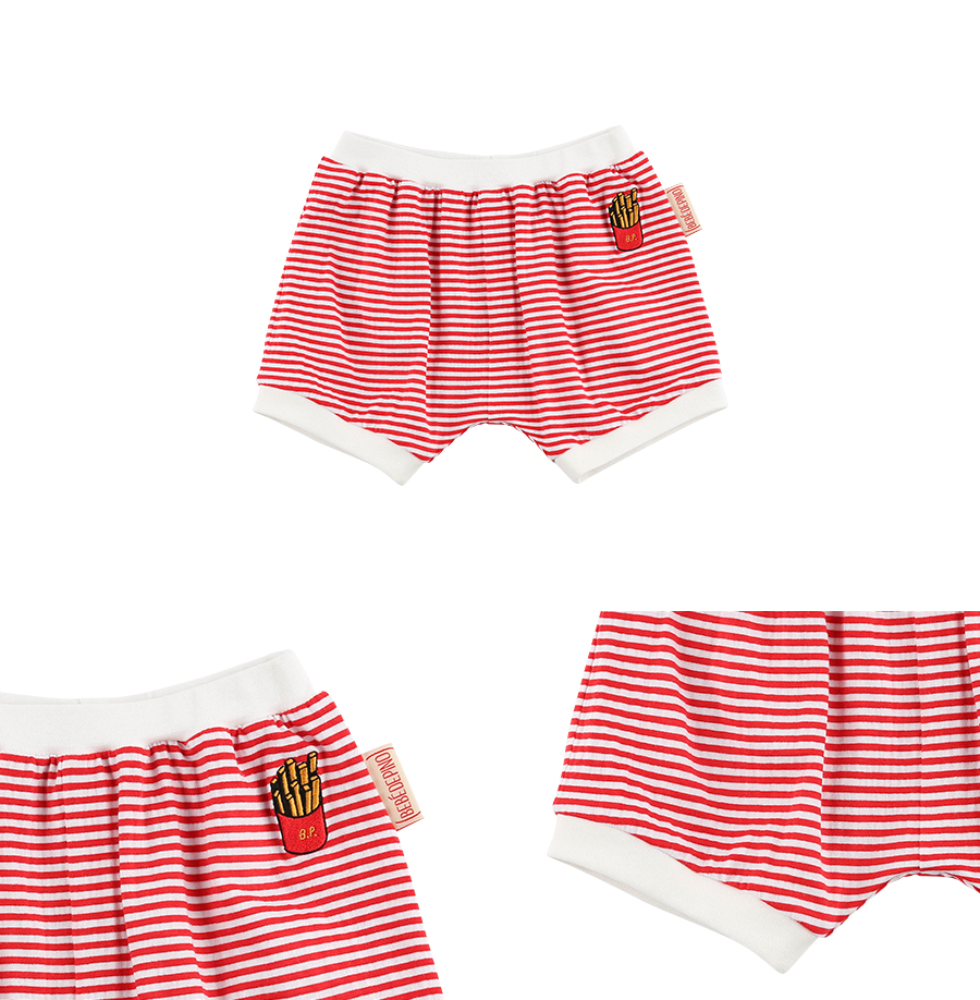 French fries baby stripe jersey bloomer 상세 이미지