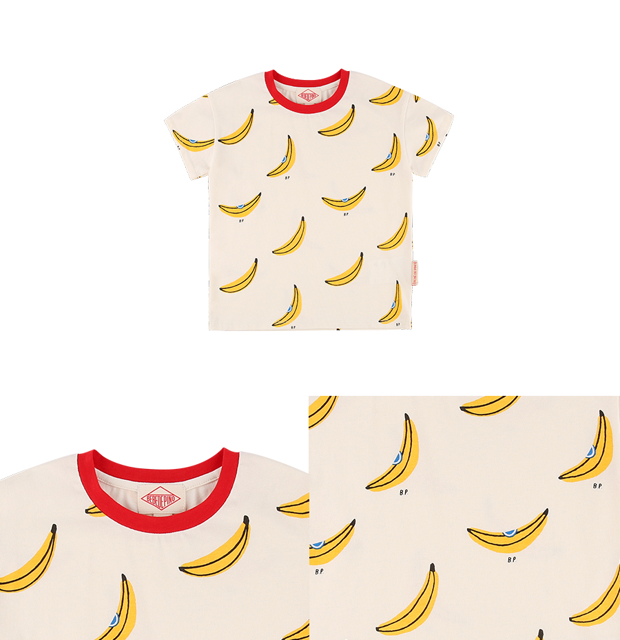 Multi banana drop shoulder short sleeve tee 상세 이미지