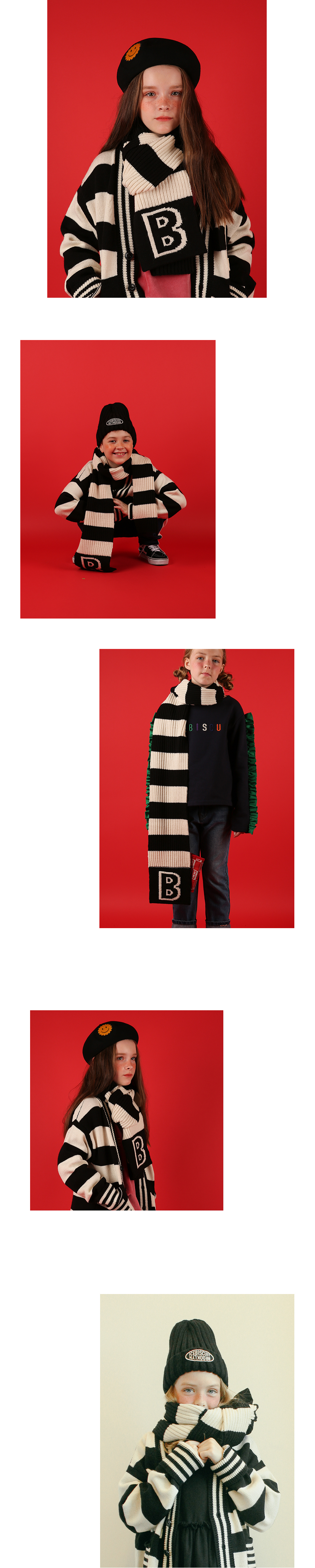 B Wappen point stripe muffler 상세 이미지