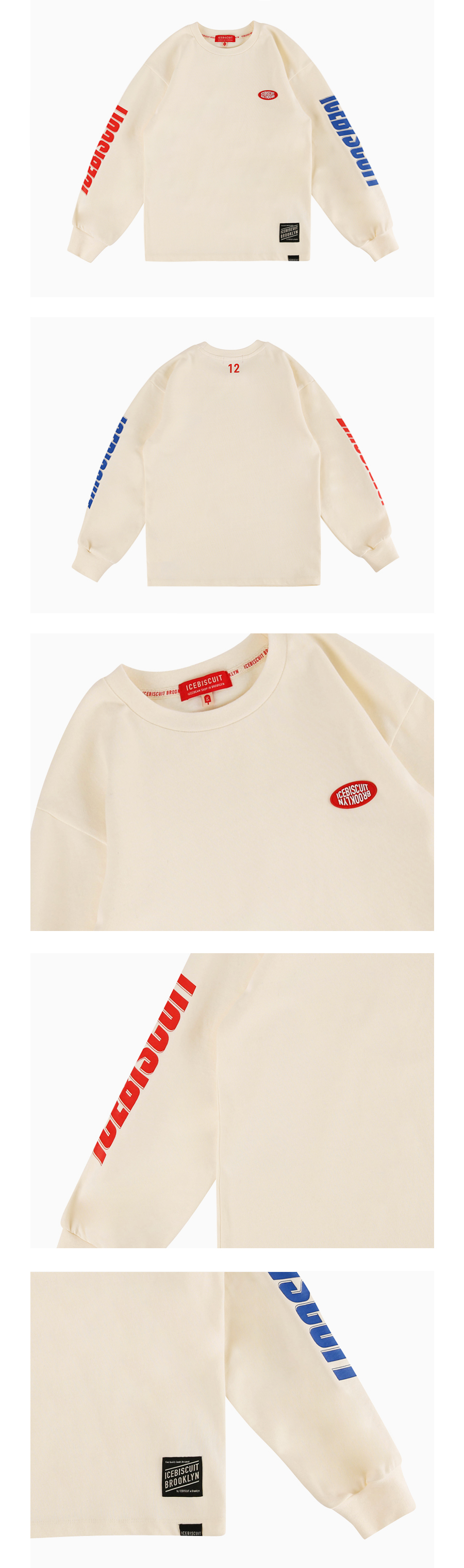 Icebiscuit logo point long sleeve tee 상세 이미지