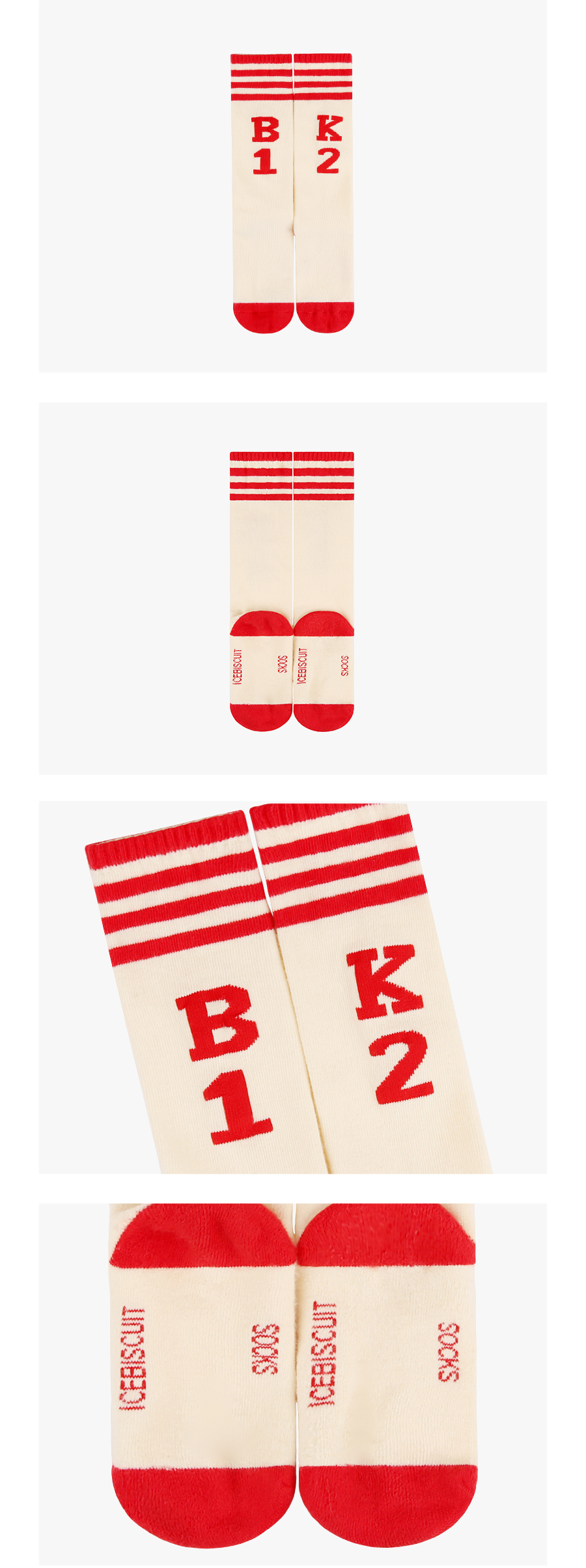 BK12 stripe knee socks 상세 이미지