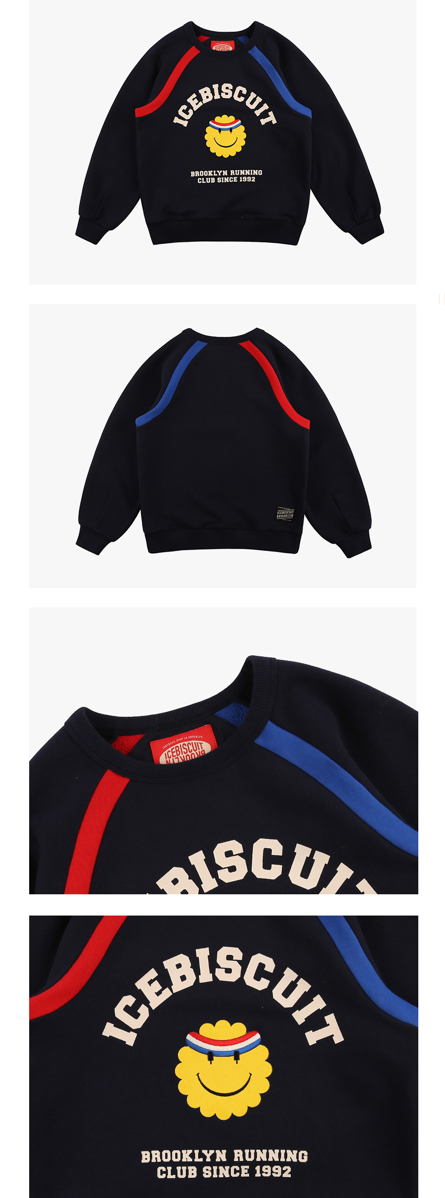 Brooklyn running club color block sweatshirt 상세 이미지