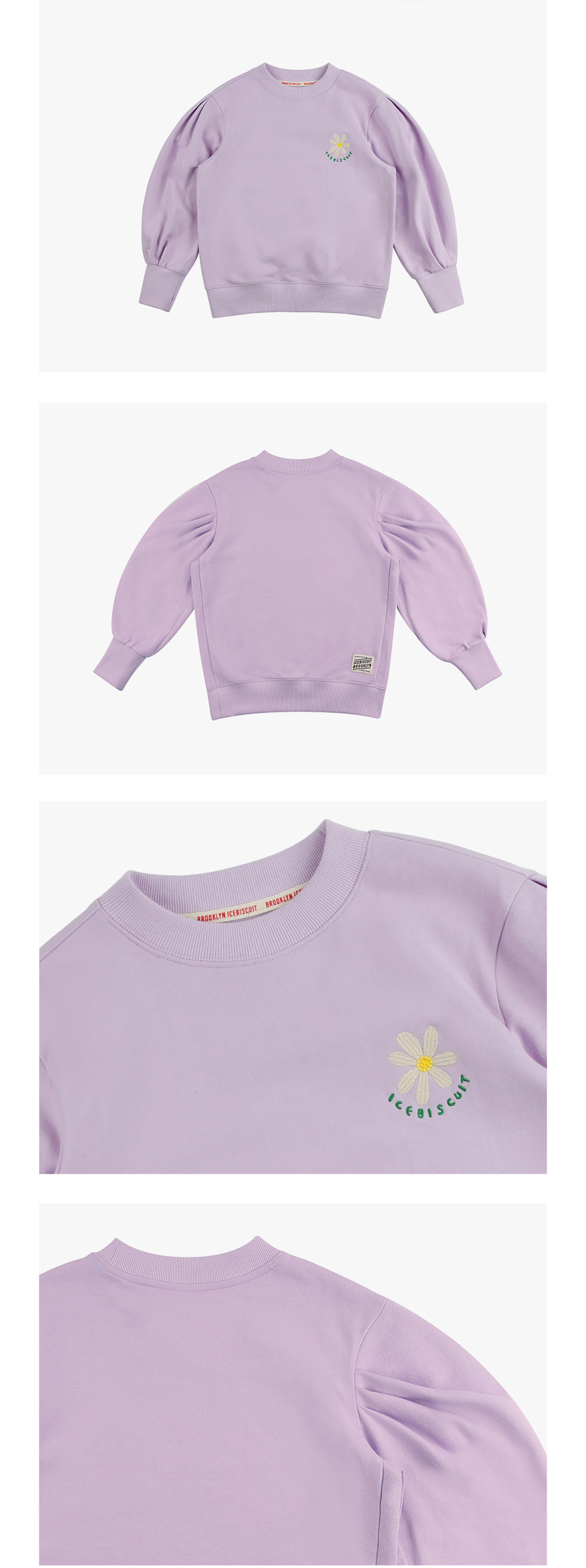 Daisy balloon sleeve sweatshirt 상세 이미지