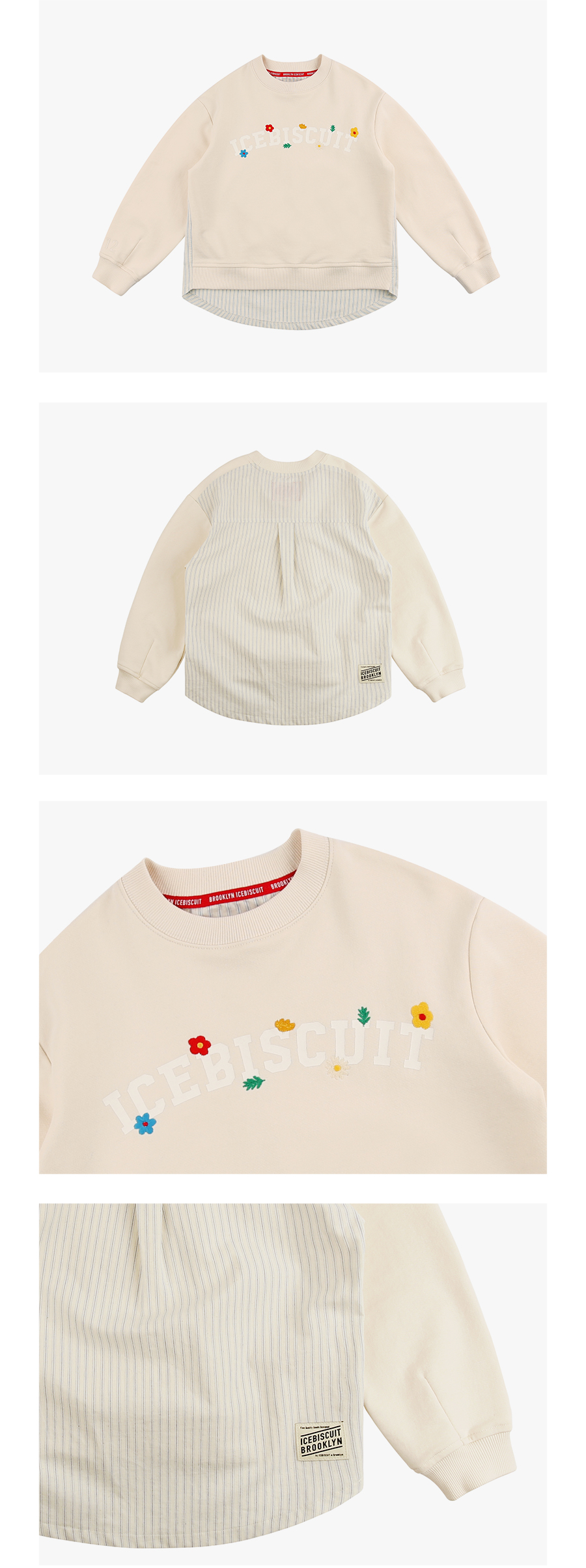 Floral icebiscuit layered sweatshirt 상세 이미지