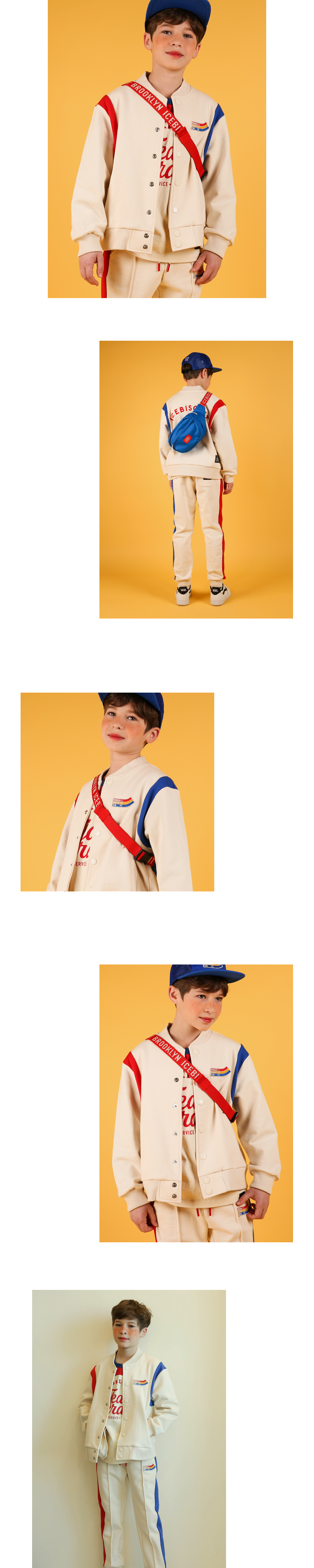 Icebiscuit color block sweat baseball jacket 상세 이미지