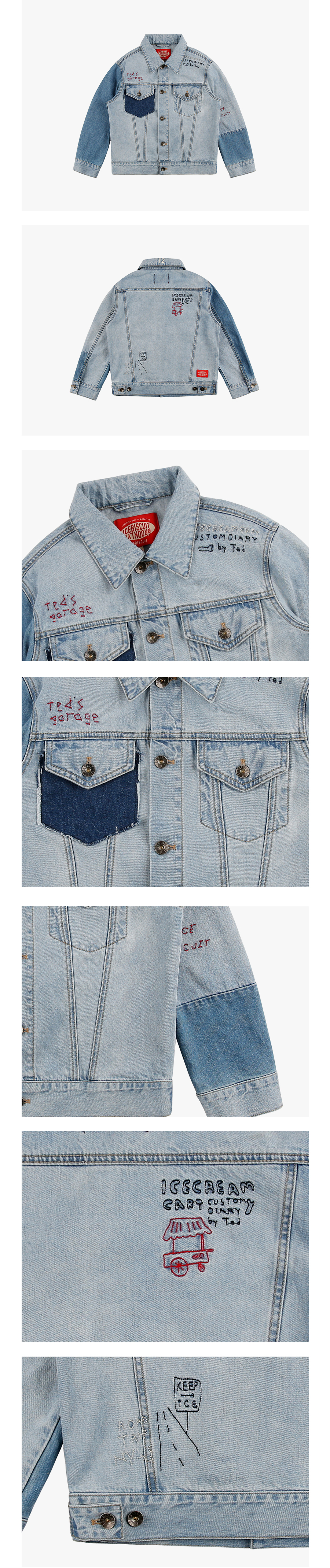 Ted graffiti denim jacket 상세 이미지