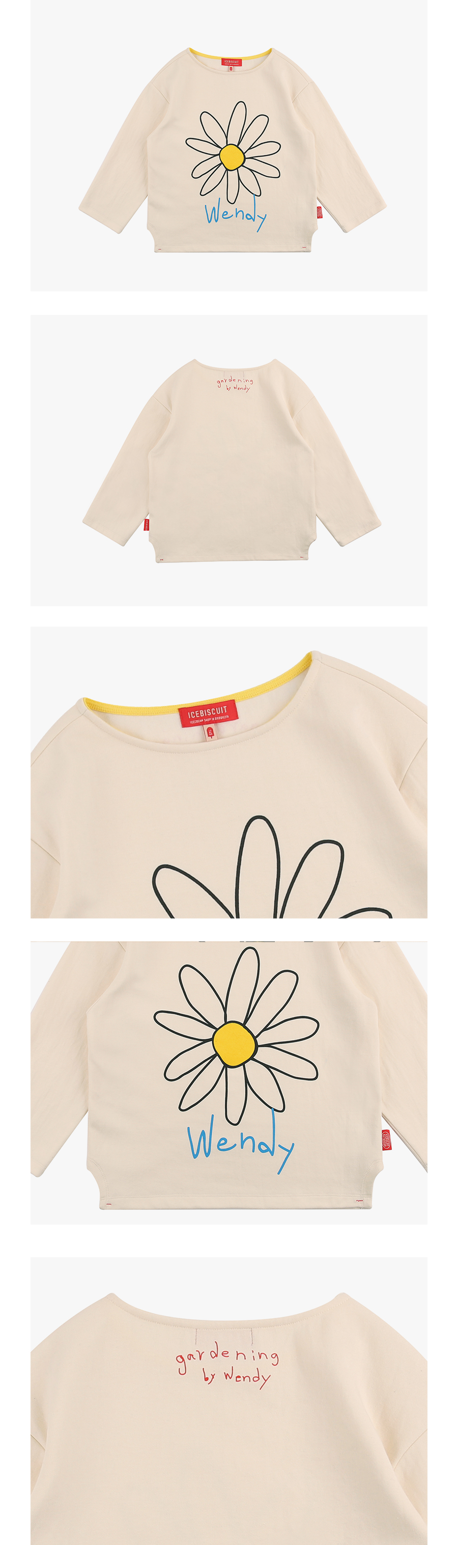 Wendy's Daisy long sleeve tee 상세 이미지