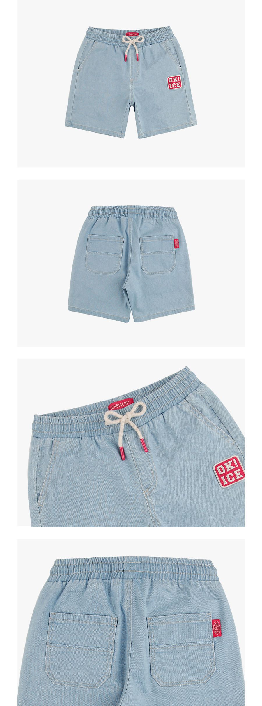 OK ICE denim shorts 상세 이미지