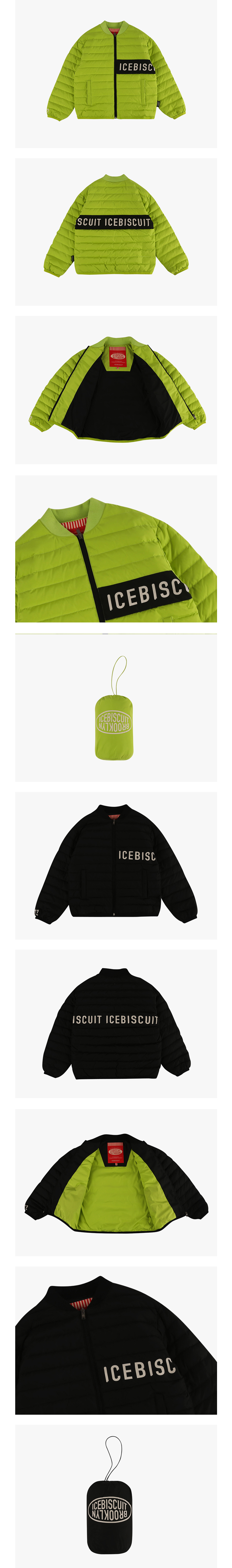 Icebiscuit color block light down jacket 상세 이미지