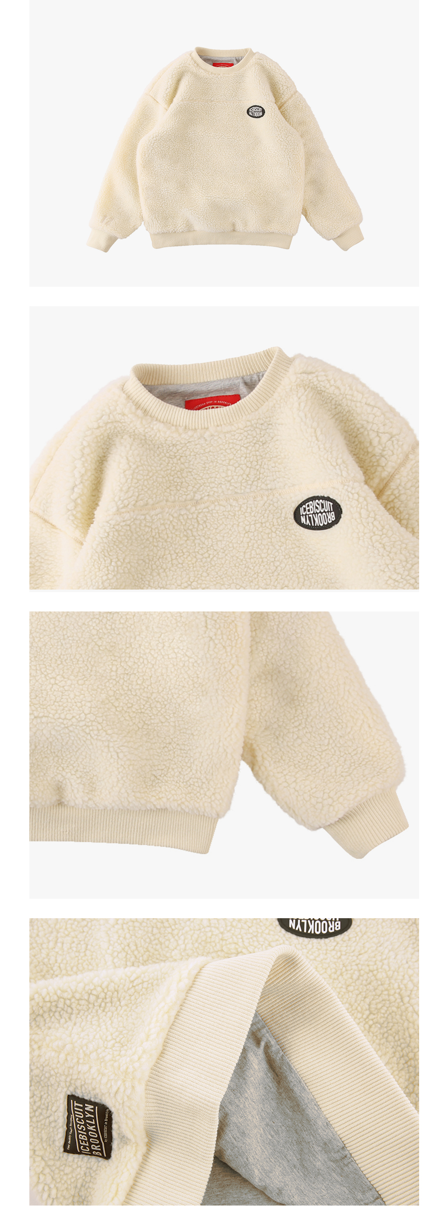 Icebiscuit sherpa fleece pullover 상세 이미지