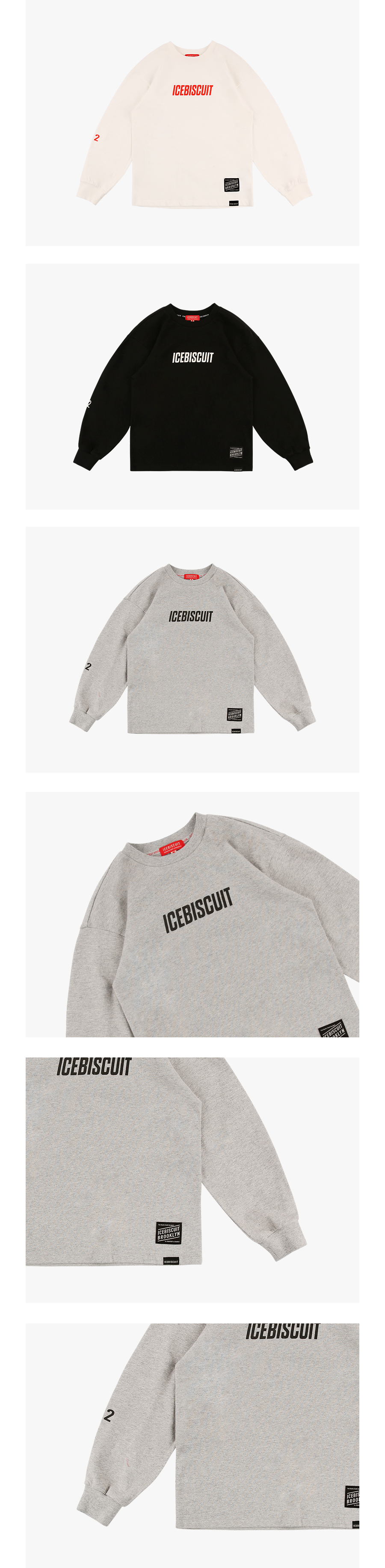 Icebiscuit letter long sleeve tee 상세 이미지
