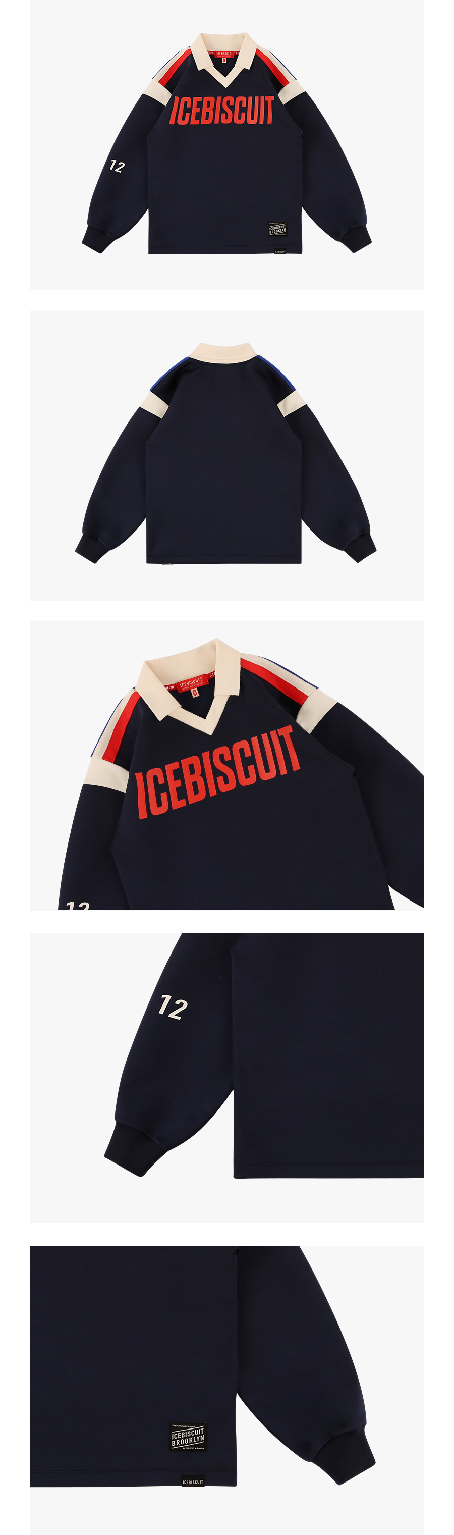 Icebiscuit logo athletic soccer tee 상세 이미지
