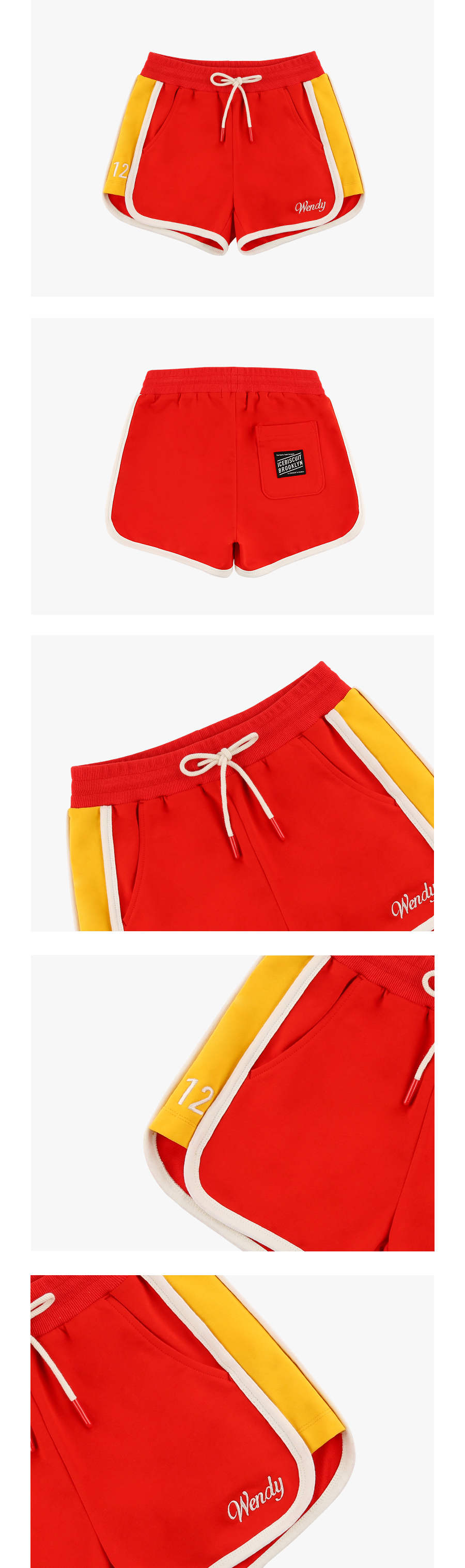 Contrast binding color block track shorts 상세 이미지