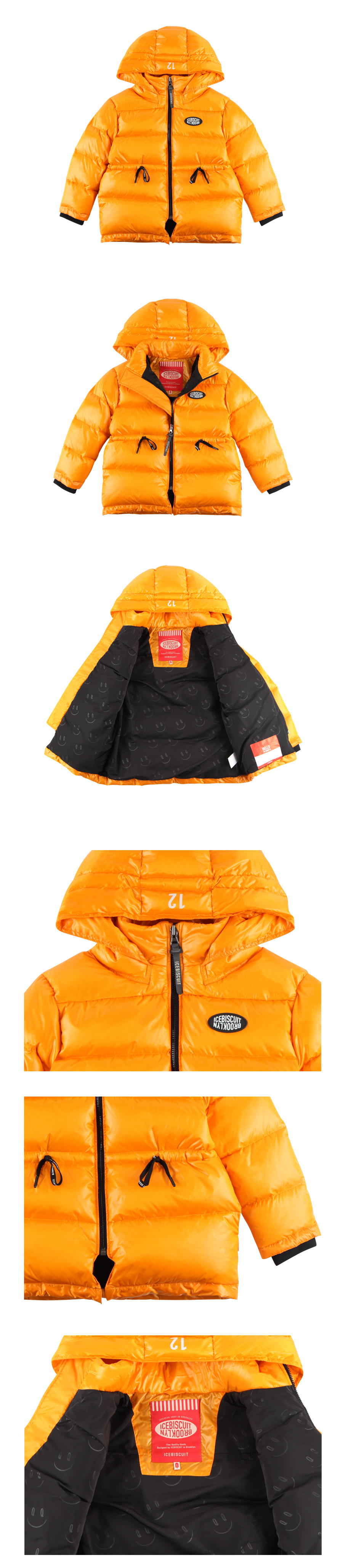 Logo patch hooded down jacket 상세 이미지