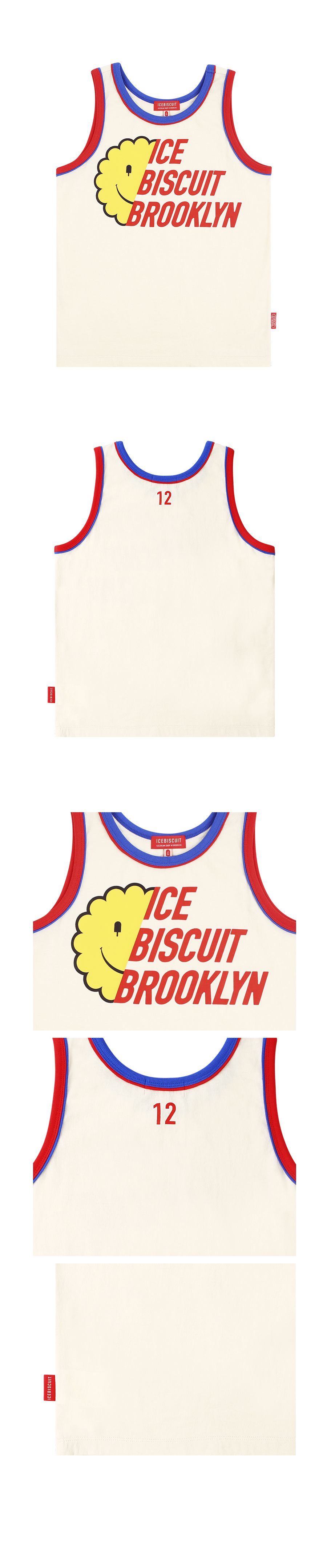 Icebiscuit half smile piping point tank top 상세 이미지