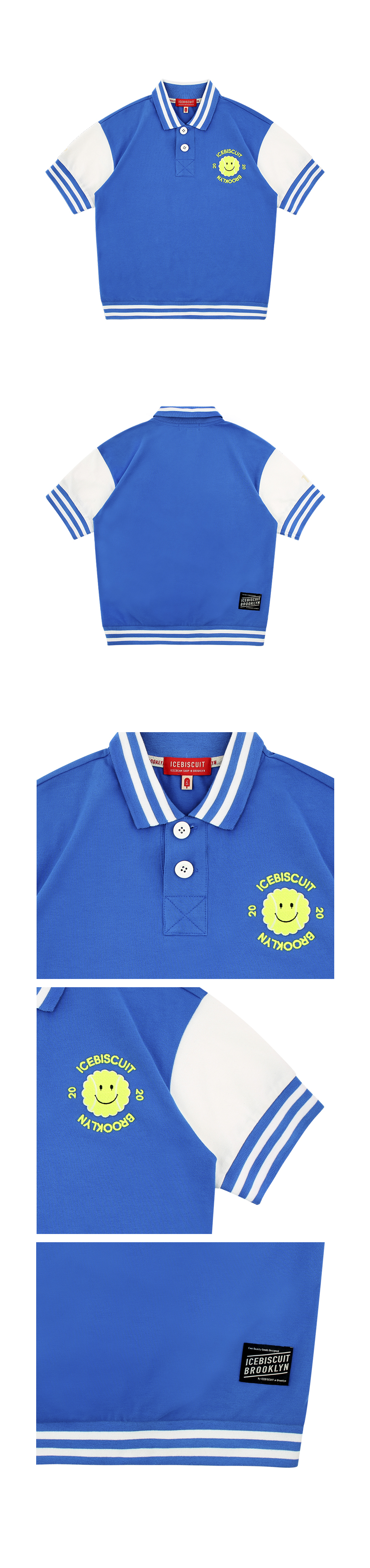Tennis smile color block pique polo shirt 상세 이미지