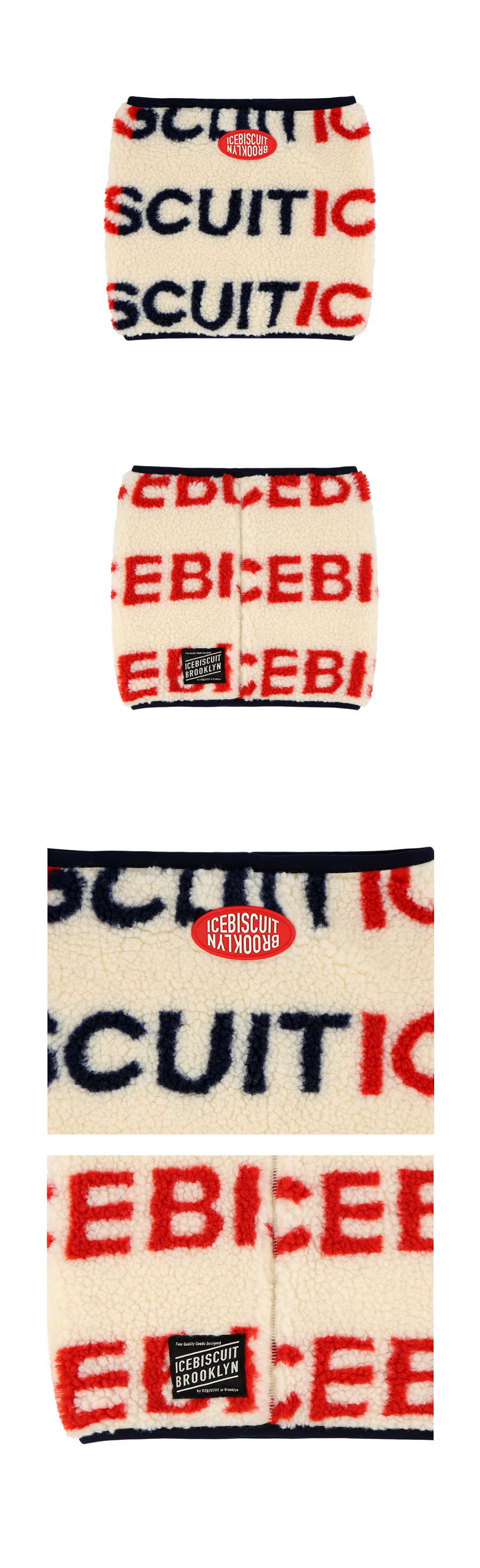 Icebiscuit Icebiscuit logo graphic sherpa neck warmer 상세 이미지